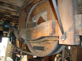 Sack hoist (dis)engagement system, Upminster Windmill, Upminster