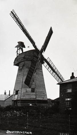 """Windmill at Southminster, Essex - copy negative"""