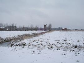 Cadge's Mill, Reedham Marshes, in the snow