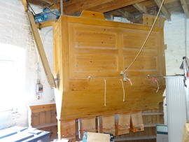 Dresser, now driven by electric motor, Hoyle's Five Sailed Mill, Alford