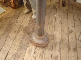 Upright shaft on dust floor, Buttrum's Mill, Woodbridge