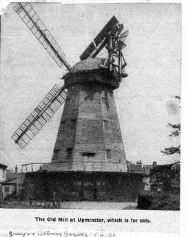 """The Old Mill at Upminster which is for sale"""