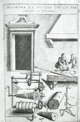 """Zonca 1607, Clockwork spit mechanism"""