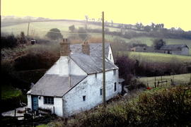 Pit mill, Roadwater, Somerset, view of mill with cottage in front