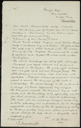 Report and plan, George Keys saw mill, Gloucester p. 2
