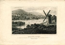 Engraving of Knowle Mill at Bembridge on The Isle of Wight