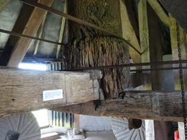 Main post and crosstrees, Pitstone Windmill, Pitstone