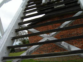 Ladder to buck, Upthorpe Road Mill, Stanton