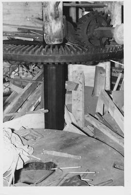 Unidentified mill, internal, crown wheel and stone floor