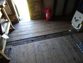 Flooring of spout floor, Hogg Hill Mill, Icklesham