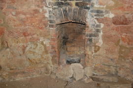 Interior view showing fireplace, tower mill, Upper Tysoe