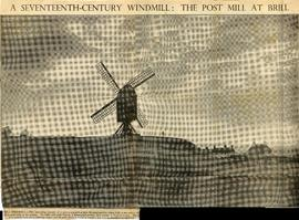"""A seventeenth-century windmill: the post mill at Brill"""