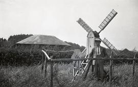 """Model Windmill at Cross in Hand Windmill, Sussex"""