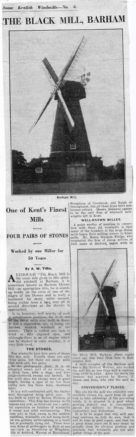"""The Black Mill, Barham - One of Kent's Finest Mills"""