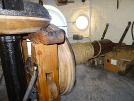 Sack hoist, tower mill, Wilton