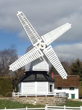 Model windmill, Bekonscot Model Village, Beaconsfield