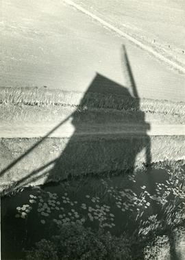 Shadow of Soham Mere Mill, Cambridgeshire