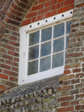 Detail of window, Friary Mill, Blakeney
