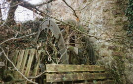 Castle Farm waterwheel, Cardinham