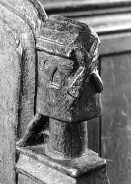 Thornham Church, Norfolk, bench end