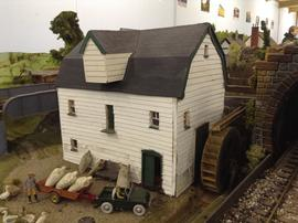 Model of watermill