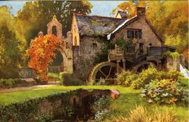 """The Old Mill Dunster"""