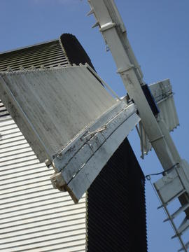 Detail of spring sails, post mill, Mountnessing