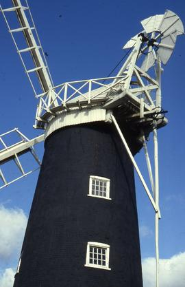"""Wicklewood Windmill, Norfolk, fantail"""