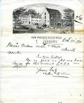 Bill from Arthur H Thew, New Process Flour Mills, Lesbury