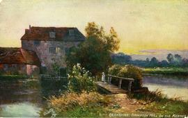 """Berkshire; Brimpton Mill on the Kennet"""