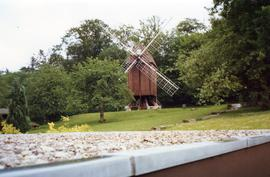Unidentified preserved post mill, site probably an open-air museum in northern or eastern Europe,...