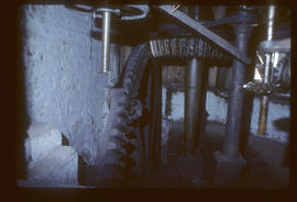 Layham Mill, Suffolk, gear space and pit wheel