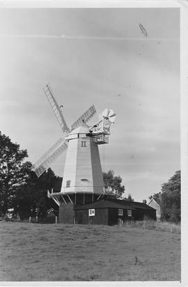Shipley Smock Mill, Shipley, four shuttered sails, fantail, gallery