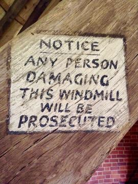 Notice, Brill Windmill, Brill