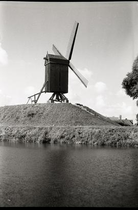 """Bruges, S post mill to N of Porte St Croix"""