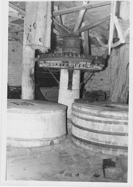 Old Mill, Pirbright, internal, crown wheel and stones floor