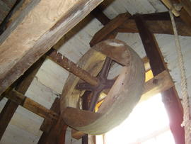Part of sack hoist drive stage(2), post mill, Madingley