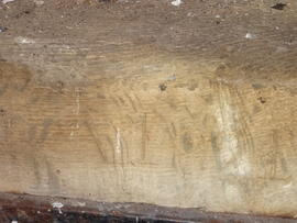 1821 date on spout floor timber, post mill, Great Chishill