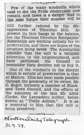 """Disappearance of Thornton Mill"""