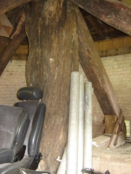 Main post and quarterbars, post mill, Madingley