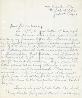 Letter from H S Pearson re. Yorkshire windmills