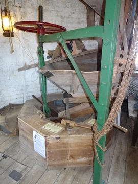 Stones and stone crane, tower mill, Great Bircham