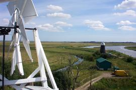 Cadge's Mill and fantail of Polkey's Mill, Reedham Marshes