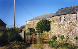 Trebarwith Farm, water-powered barn - Tintagel