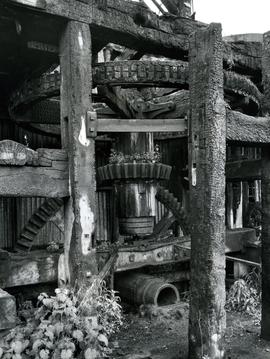 Horstead Mill, Norfolk, exposed gearing