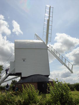 External view, post mill, Ashdon
