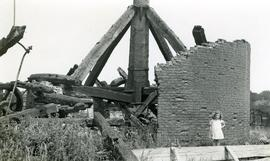 Sprowston Mill, Norwich, post still standing