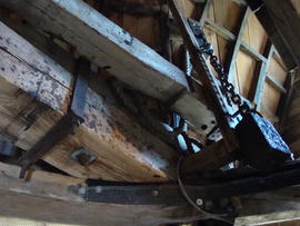 Cap frame, curb and brake lever, Stansted Windmill, Stansted Mountfitchet