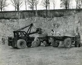Men and Machinery in Humberfield Quarry, Hessle