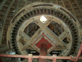 Brake wheel, tower mill, Denver